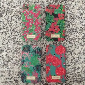 Set of 4 Lilly Pulitzer Phone Cases